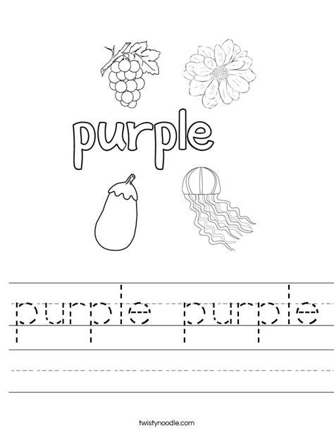 food in the color purple book purple purple worksheet twisty noodle