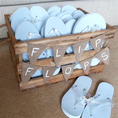 wedding box of flip flops personalised crate wedding flip flops by