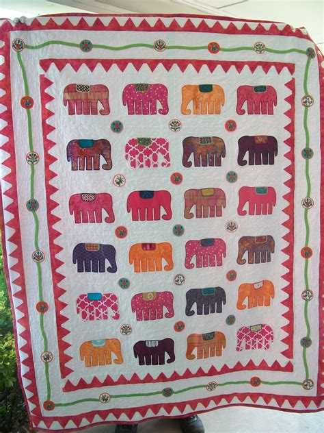 Handmade Applique Quilts - crafted custom quot elephant walk quot appliqued quilt by