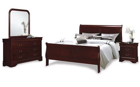 sleigh bedroom suites louis phillipe sleigh bedroom suite united furniture outlets