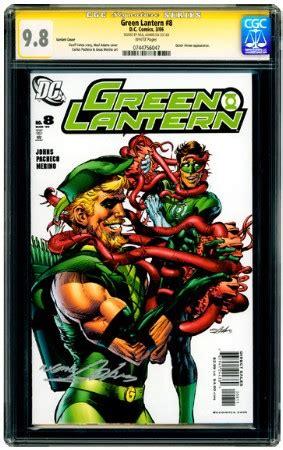 green lantern #8 variant cover cgc signature series 9.8