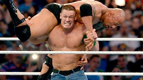 dwayne johnson the rock vs john cena new wrestling players the rock vs john cena wrestlemania