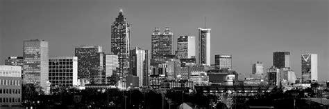 atlanta skyline black and white wallpaper atlanta skyline at dusk downtown black and white bw