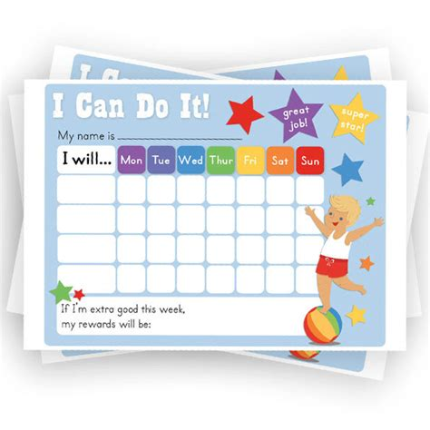 boys reward chart chore chart printable sticker chart