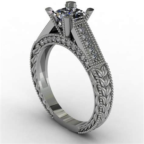 vintage princess cut engagement ring samuel kleinberg