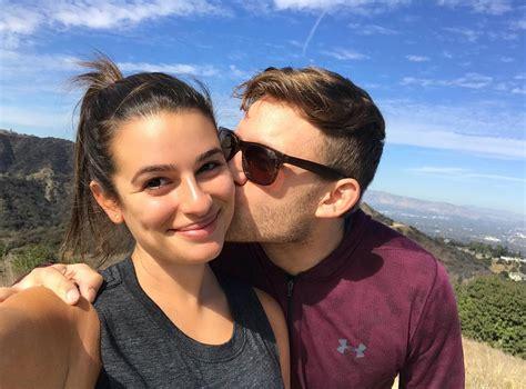 lea michele lea michele and boyfriend zandy reich enjoy hike