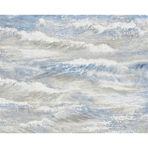 Water Gliter Motif as creation wave pattern wallpaper sea surf water motif embossed textured ebay