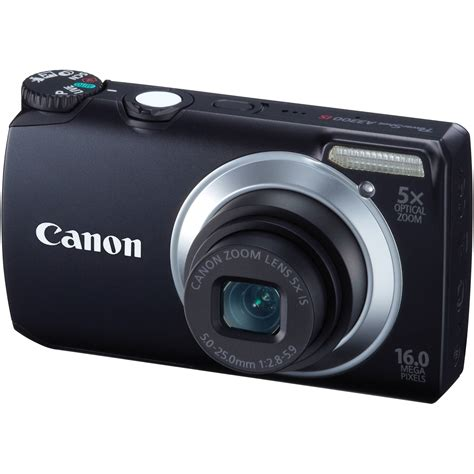 cannon digital canon powershot a3300 is digital black 5035b001 b h