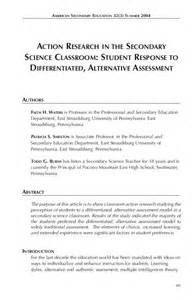 action research in science classroom