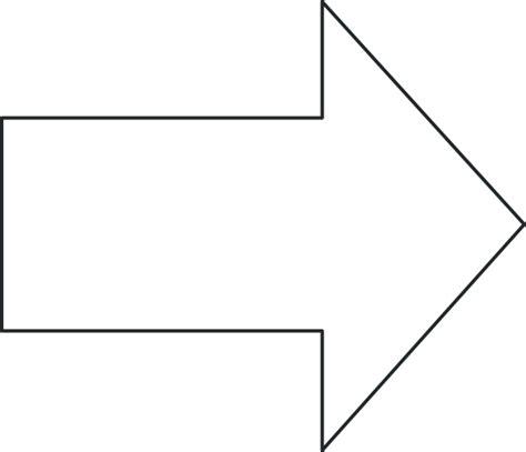 Arrow Right Black Outline Clip Art At Clker Com Vector Printable Arrow Template