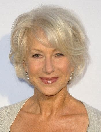 hairstyles: helen mirren medium layered hairstyle