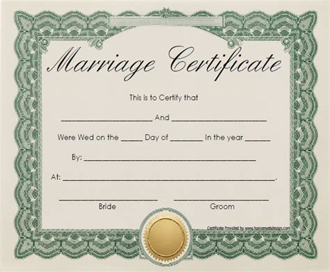 sle marriage certificate template 18 documents in