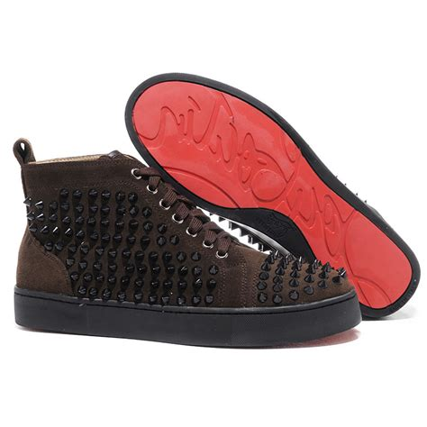 louis vuitton sneakers with spikes christian louboutin louis spikes sneakers chocolate