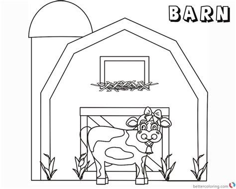 barn coloring pages barn coloring pages cow free printable coloring pages