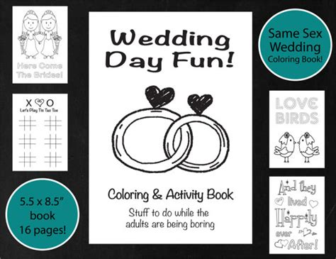 Wedding Coloring Book Cover by Same Wedding Coloring Activity Book Brides