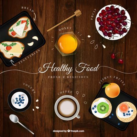 imagenes gratis comida fondo de madera con comida en estilo realista descargar