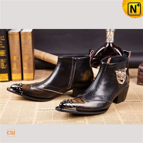 italian leather boots mens cwmalls 174 mens distressed italian leather boots cw750122