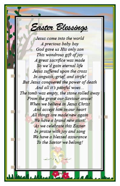 contemporary easter songs for church christian poems