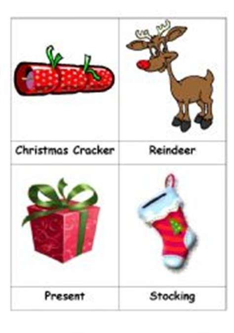 christmas decorations flashcards teaching worksheets flashcards