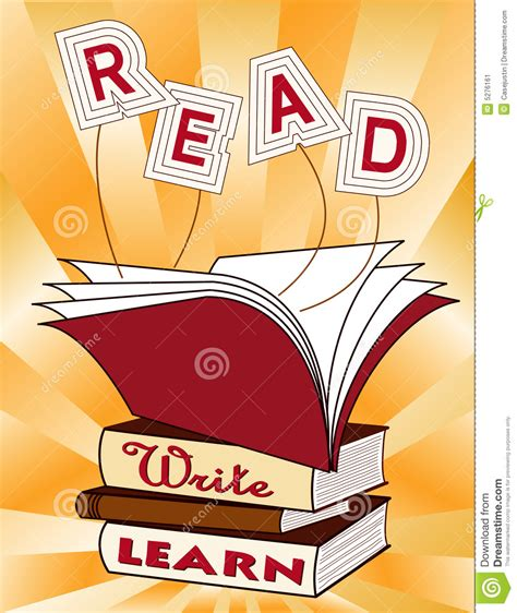 writing to be published and read books read write learn stock image image 5276161