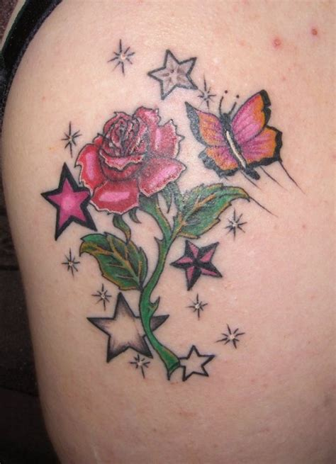 roses and stars tattoo designs 15 pretty designs showcase sheplanet
