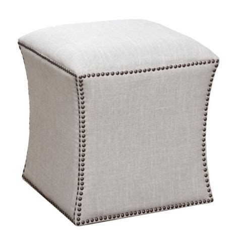 tufted nailhead ottoman abbyson living waverly square tufted nailhead ottoman in