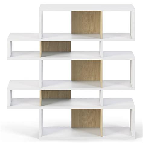white oak bookcase white oak modern bookcase eurway