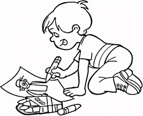 children coloring drawings to color child coloring