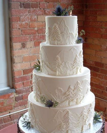 Wedding Cake Mountain by Winter Wedding Cakes That Wow Rustic Wedding Chic