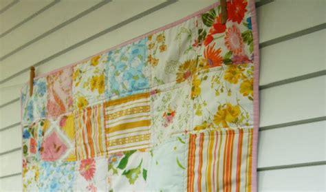Patchwork Sheets - craftyblossom vintage sheet patchwork quilt