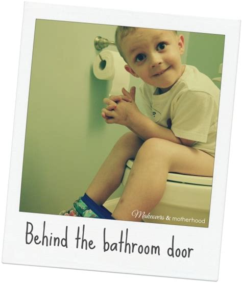 behind the bathroom door behind the bathroom door makeovers motherhood