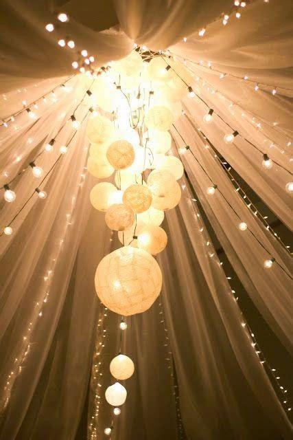 beautiful Indoor String Light Decoration Ideas #2: tulle-wedding-decoration-2.jpg