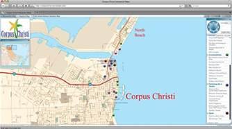 corpus christi cvb maps the city