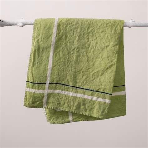 Dining Room Tablecloths by Fine Handcrafted Linen Tea Towel Green