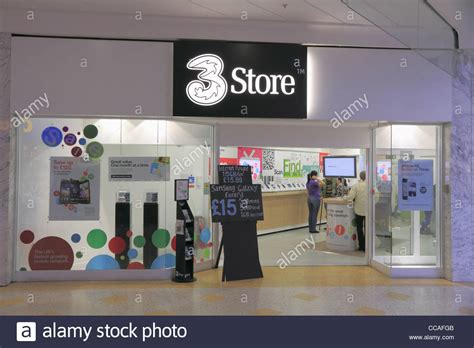 phone 3 from mobile a 3 three mobile cell telephone phone shop store retail
