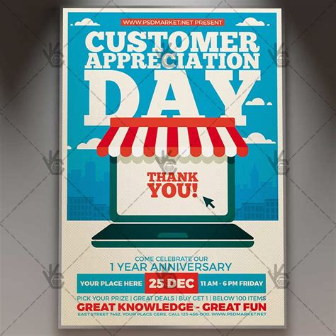 customer appreciation day flyer template customer appreciation day business flyer psd template