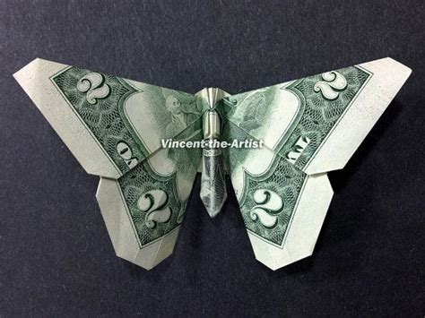 Butterfly Origami Dollar Bill - butterfly money origami insect animal dollar bill