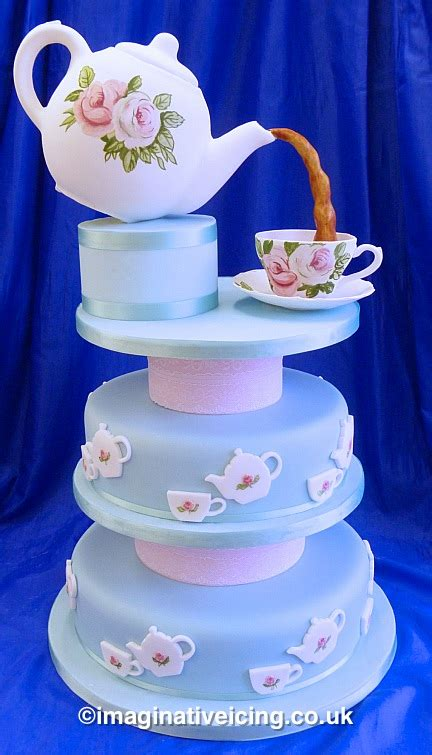 High Tea Kitchen Tea Ideas by Vintage Teapot Wedding Cake Imaginative Icing Cakes