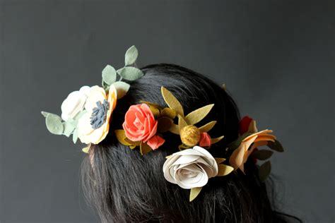 Cheerful Fantasia Flowercrown Flower Crown felt flower crown