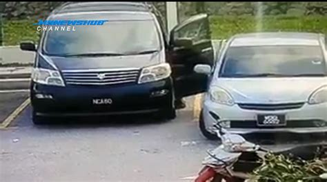 Cermin Tepi Kereta Myvi lelaki berkopiah pecah cermin kereta curi rm30k