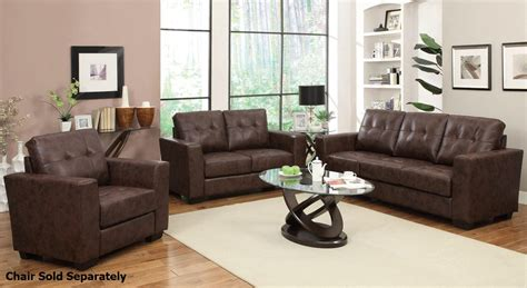 leather sofa and loveseat set brown cordovan bonded