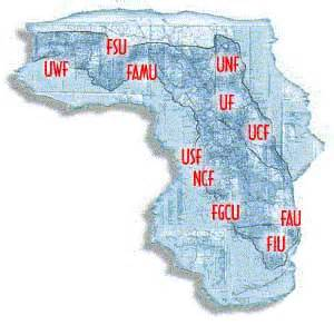 florida colleges map florida colleges and univeristies
