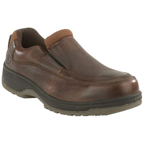 florsheim s steel toe esd moc toe slip on work shoe fs2405
