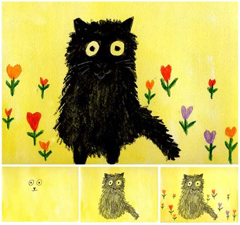 children s painting cat maud lewis cat painting projects for