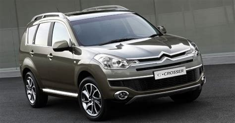 peugeot 2006 suv mitsubishi outlander gives birth to the citroen c crosser