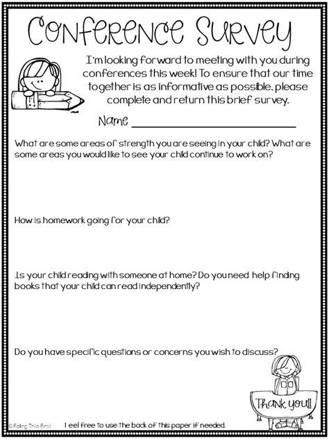 sample parent teacher conference form parent teacher conference form