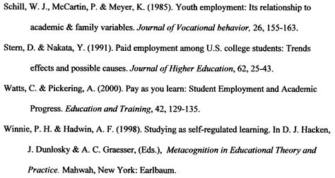 exle of a reference page for a research paper y psychology research poster session y