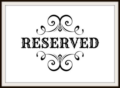 reserved sign template pictures to pin on pinterest