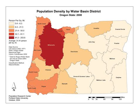 map of oregon population basin level datasets for anticipating future water