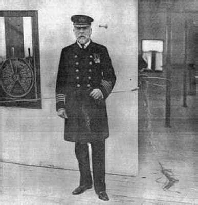 captain smith on the bridge of the titanic